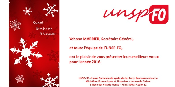 Voeux UNSP-FO 2016